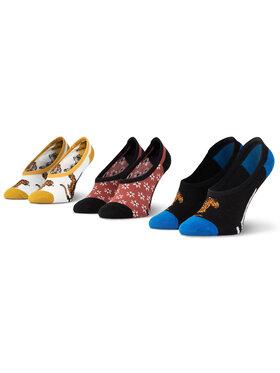 Vans Vans Sada 3 párů dětských kotníkových ponožek Tiger Floral Canoodles VN0A4S7R4481 Barevná