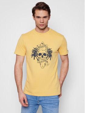 Quiksilver Quiksilver T-Shirt Night Surfer EQYZT06325 Žlutá Classic Fit