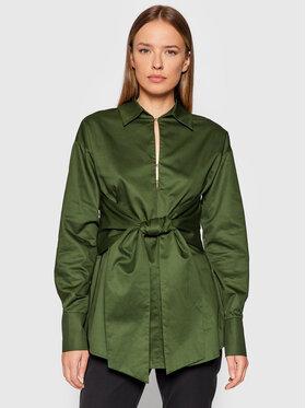 Guess Guess Bluză Emma W1BH08 WDXM0 Verde Regular Fit