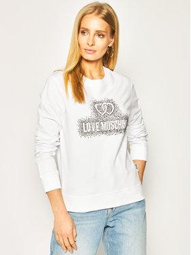 LOVE MOSCHINO LOVE MOSCHINO Felpa W630215E 2139 Bianco Regular Fit