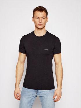 Versace Versace T-shirt Mc Girocollo AUU04023 Nero Slim Fit