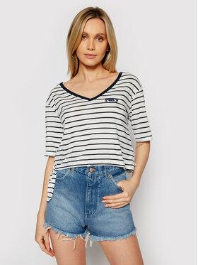 Roxy Roxy T-shirt Bikini Moments ERJZT05126 Bianco Loose Fit