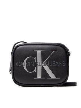 Calvin Klein Calvin Klein Дамска чанта Sculpted Camera Bag Silver K60K608376 Черен