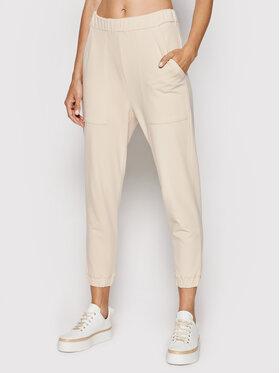 Marella Marella Spodnie dresowe Notable 37860817 Beżowy Regular rFit