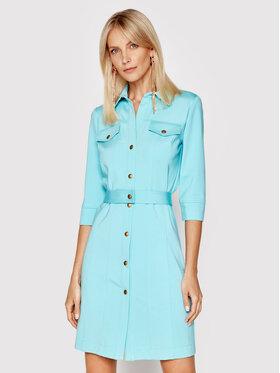 Pinko Pinko Robe chemise Inquieto Bleu Slim Fit