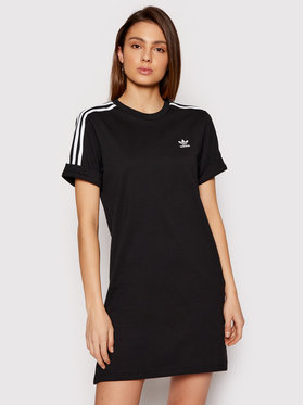 adidas adidas Φόρεμα καθημερινό adicolor Classics Roll-Up GN2777 Μαύρο Relaxed Fit