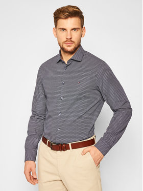 Tommy Hilfiger Tailored Tommy Hilfiger Tailored Košeľa Dot Print TT0TT07609 Tmavomodrá Slim Fit