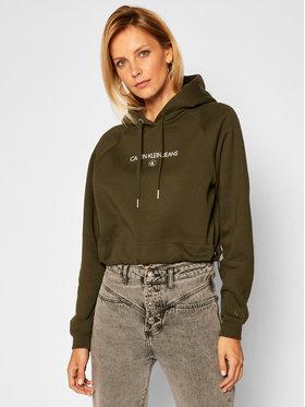 Calvin Klein Jeans Calvin Klein Jeans Суитшърт J20J215128 Зелен Regular Fit