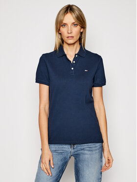 Tommy Jeans Tommy Jeans Polo Tjw DW0DW09199 Granatowy Slim Fit