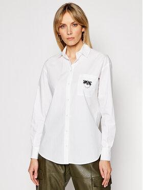Pinko Pinko Koszula Vispo PE 21 BLK01 1G15WT Y6VW Biały Regular Fit