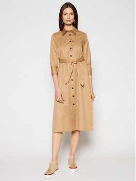 Marella Marella Košeľové šaty Gnu 32210314 Hnedá Regular Fit