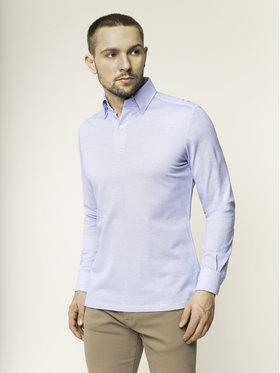 Emanuel Berg Emanuel Berg Тениска с яка и копчета H-Basel HBD PEB45765 Тъмносин Slim Fit