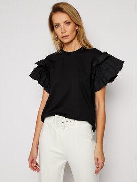 Victoria Victoria Beckham Victoria Victoria Beckham T-Shirt Single 2121JTS002406A Czarny Regular Fit