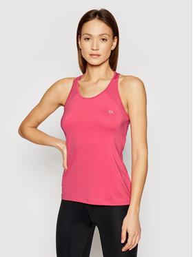 Calvin Klein Performance Calvin Klein Performance Top Mesh Back Tank 00GWS1K136 Różowy Regular Fit