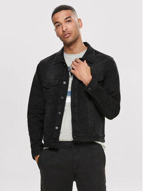 Only & Sons ONLY & SONS Дънково яке Coin 22010453 Черен Regular Fit