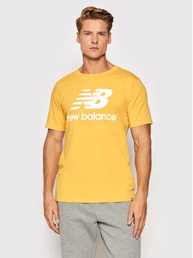 New Balance New Balance Marškinėliai Essential Logo MT01575 Geltona Athletic Fit