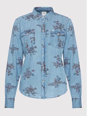 Lee Lee Koszula jeansowa Western L45SXHSV Niebieski Regular Fit