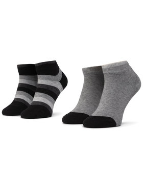 Tommy Hilfiger Tommy Hilfiger Lot de 2 paires de chaussettes basses enfant 354010001 Noir