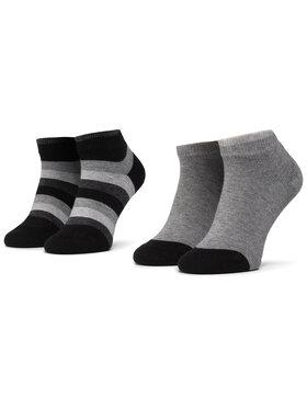 Tommy Hilfiger Tommy Hilfiger Súprava 2 párov detských členkových ponožiek 354010001 Čierna