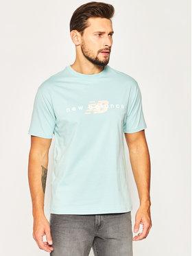 New Balance New Balance T-Shirt Nbathprpfrendst MT01516D Zielony Regular Fit