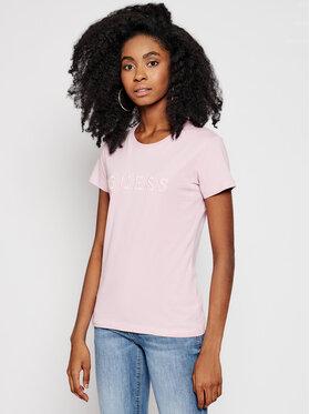 Guess Guess Póló O1GA05 K8HM0 Rózsaszín Regular Fit