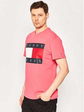 Tommy Jeans Tommy Jeans Póló Tommy Flag Tee DM0DM07009 Rózsaszín Regular Fit