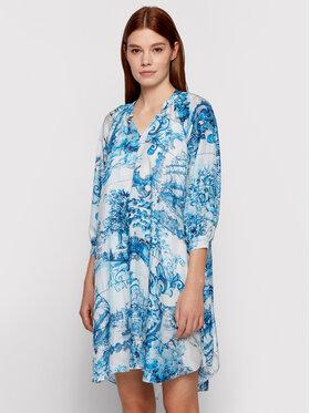 Boss Boss Letné šaty Difloru 50454550 Modrá Oversize