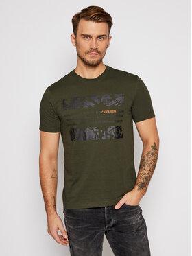 Calvin Klein Calvin Klein T-Shirt Graphic Box K10K105954 Zielony Regular Fit