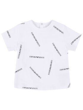 Emporio Armani Emporio Armani T-Shirt 3HHTD7 4J09Z F112 Biały Regular Fit