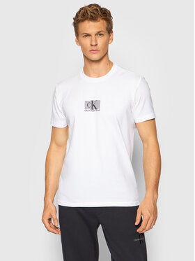 Calvin Klein Jeans Calvin Klein Jeans Тишърт J30J318201 Бял Regular Fit