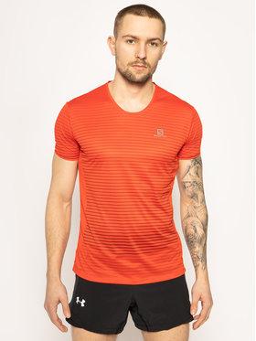 Salomon Salomon T-shirt technique Sense Tee M LC1276100 Rouge Active Fit