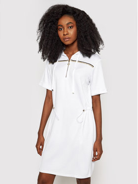 Liu Jo Sport Liu Jo Sport Φόρεμα υφασμάτινο TA1147 J6176 Λευκό Regular Fit
