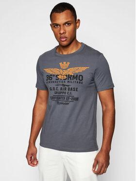Aeronautica Militare Aeronautica Militare T-Shirt 211TS1867J492 Grau Regular Fit