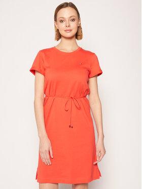 TOMMY HILFIGER TOMMY HILFIGER Každodenní šaty Angela WW0WW27812 Oranžová Regular Fit