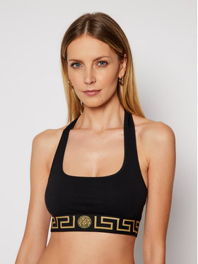 Versace Versace Сутиен-топ Donna AUD01039 Черен
