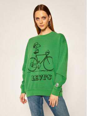 Levi's® Levi's® Bluză PEANUTS® Graphic 77376-0008 Verde Relaxed Fit