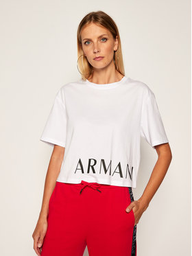 Armani Exchange Armani Exchange T-Shirt 6HYTFS YJX5Z 1000 Biały Regular Fit