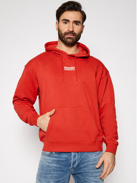 Wrangler Wrangler Džemperis Hoodie W6E1HAXA4 Raudona Regular Fit