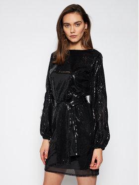 Ermanno Firenze Ermanno Firenze Коктейлна рокля AB26PAI Черен Regular Fit