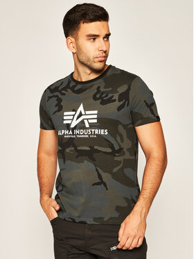 Alpha Industries Alpha Industries T-Shirt Basic 100501C Szary Regular Fit