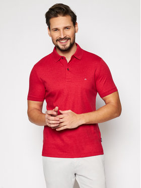 Calvin Klein Calvin Klein Tricou polo Liquid Touch K10K107090 Roșu Slim Fit