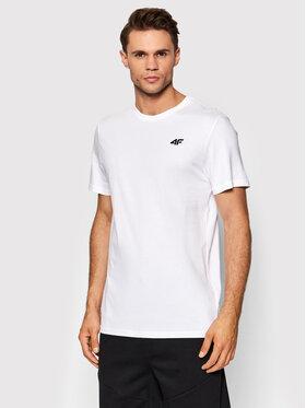 4F 4F T-Shirt NOSH4-TSM352 Biały Regular Fit
