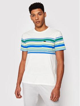 Lee Lee T-shirt Stripy L63OLINQ Bianco Regular Fit