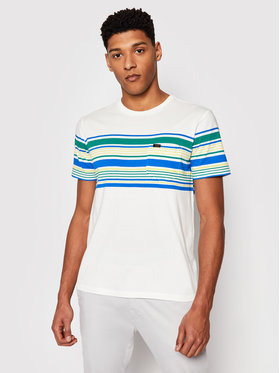 Lee Lee T-shirt Stripy L63OLINQ Bijela Regular Fit