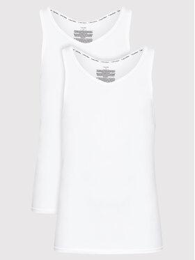 Calvin Klein Underwear Calvin Klein Underwear Lot de 2 débardeurs 000NB1099A Blanc Slim Fit