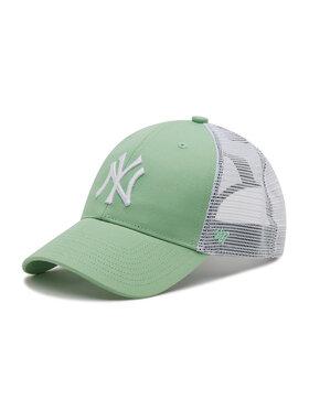 47 Brand 47 Brand Czapka z daszkiem Ny Yankees Branson Trucker B-FLGSH17GWP-HK Zielony