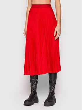 Calvin Klein Calvin Klein Spódnica plisowana K20K203222 Czerwony Regular Fit