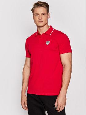 EA7 Emporio Armani EA7 Emporio Armani Тениска с яка и копчета 3KPF05 PJ03Z 1450 Червен Regular Fit
