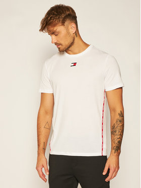 Tommy Sport Tommy Sport T-shirt Piping S20S200458 Blanc Regular Fit