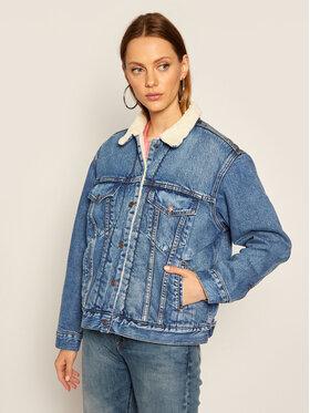 Levi's® Levi's® Jeansová bunda Ex-Bf Sherpa 36137-0005 Tmavomodrá Regular Fit